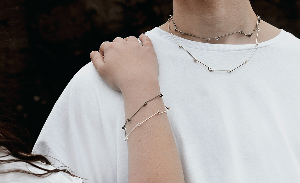 Double Twisted Link Bracelet and Necklace, 2016