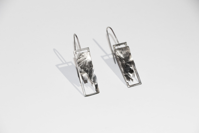 Bark Contrast Earrings, 2017